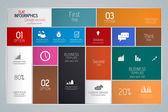Minimal infographics. Flat design. Vector — Stock Vector