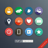 Universal Flat icon set for Web and Mobile. Vector — Vetorial Stock