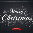 Merry Christmas letters stylized for the drawing with chalk on t — Stockvector