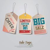 Vintage Sale Tags Design. Vector — Stock Vector