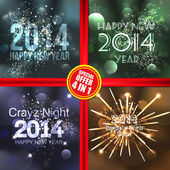 New Year 2014 .greeting cards. Vector — Stock Vector
