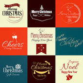 Vintage styled Christmas Card. Vector — Stock Vector