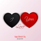 Valentines Day Card With Hearts. Vector — Stock Vector