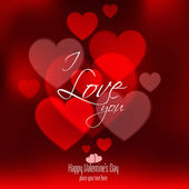 Valentines Day Card With Hearts. Vector — Vettoriale Stock