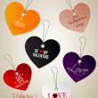 Stock Vector: Valentine's Day tags. Vector
