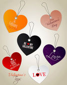 Valentine's Day tags. Vector — Stock Vector
