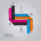 Minimal infographics design. Vector — Stock Vector