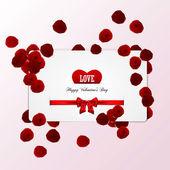 Valentine's card. Vector — Stock Vector