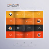 Modern Design Minimal infographic template - can be used for inf — ストックベクタ