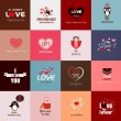 Stock Vector: Happy valentines day cards. Vector