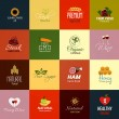 Set of Food and Drinks Labels — Vector de stock