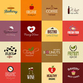 Food and Drinks Labels — Stock Vector