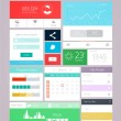 UI elements for web and mobile.Icons and buttons.Flat design. Ve — Stock Vector