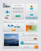 UI elements for web and mobile.Icons and buttons.Modern design. — Stock Vector