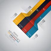 Projeto mínimo infografia. vector — Vetor de Stock