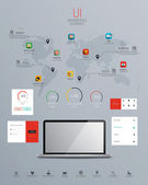 UI Infographics elements with icons. Vector — Stock Vector