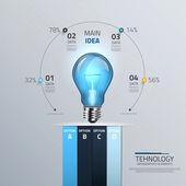 Creative light bulb — Stock Vector