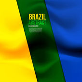 Brazil flag concept — Vector de stock