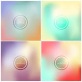 Blurry backgrounds. Vector — Stock Vector