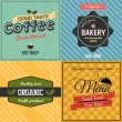 Vintage labels and ribbon retro style set. Vector — Stock Vector #47565635