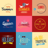 Summer labels and emblems. Vector — Stock Vector
