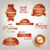 Premium Quality Labels. Vector — Stock Vector