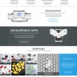 Website interface template- one page. Modern flat style. Vector — Stock Vector #48412203