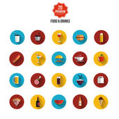 Food and drink  flat icons — Stock Vector
