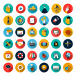 Set of flat icons — Stock Vector #49441529