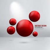Abstract spheres — Stock Vector