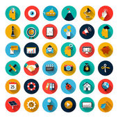 Set of flat icons — Stock Vector