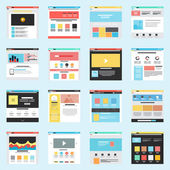 Set of Flat Website Templates — Stock Vector