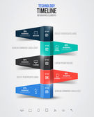 Timeline infographics, elements and icons. Vector — Stock Vector
