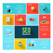Flat search engine optimization infographics — Stock Vector