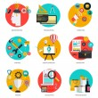 Set of flat icons — Stock Vector #51346857