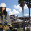 Beautiful Teen Construction Worker (3) — Stock Photo