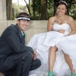 Stock Photo: Bride and Groom Outdoors (10)