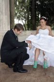 Bride and Groom Outdoors (7) — Stock Photo