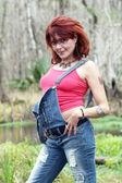 Sexy Woman Outdoors — Stock Photo