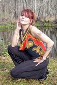 Fashionable Woman Outdoors — Stock Photo