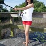 Pregnant Woman Fishing (4) — Stock Photo #44264697