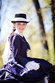 Portrait of the horsewoman. — Stock Photo
