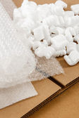 Corrugated Box And Packaging Materials — Стоковое фото