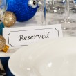 Reserved Holiday Table Setting — Stock Photo #12434494