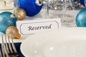 Reserved Holiday Table Setting — Stock Photo