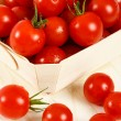 Basket Of Red Cherry Tomatoes — Stock Photo