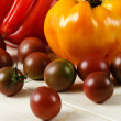 Stock Photo: Fresh Ripe Heirloom Tomatoes