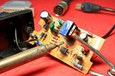 Repair of electronic circuits — Foto Stock