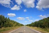 Asphalt road under blue sky — Photo