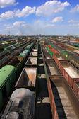 Vagões ferroviários — Foto Stock
